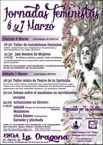 Jornadas Feministas 6 y 7 de marzo en La Dragona